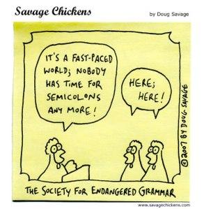 Semicolon genocide